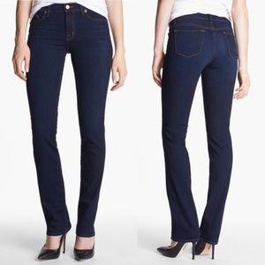 J Brand Mid Rise Cigarette Leg Jeans in 'Ignite'